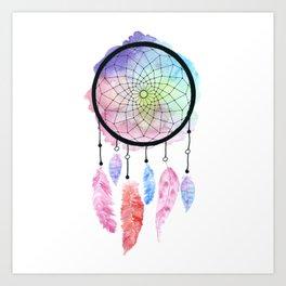 Watercolor Dreamcatcher Art Print
