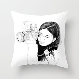 Point and shoot Throw Pillow