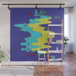 Abstract Color Graphic Splash Wall Mural