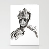groot Stationery Cards featuring Groot by Andreea Rosu