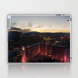 Las Vegas Strip from the Highroller at dusk Laptop & iPad Skin