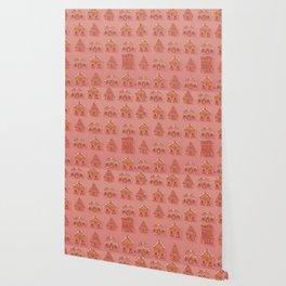 Gingerbread house pattern Wallpaper