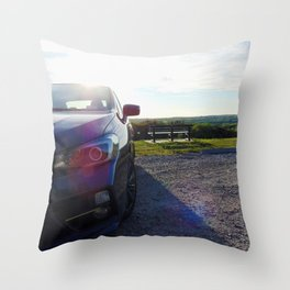 Subies and Sunsets Throw Pillow