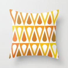 Orange curved triangle pattern Throw Pillow