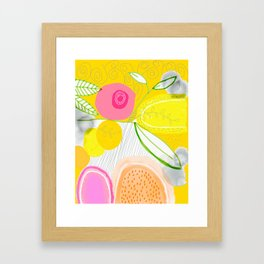 Her Mind Was Filled with Positive Thoughts Framed Art Print
