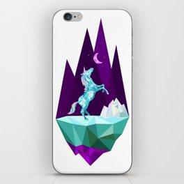 unicorn stand alone iPhone Skin