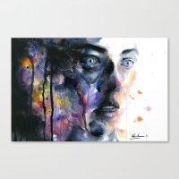 frozen Canvas Prints featuring Frozen by agnes-cecile