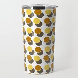 Yellow Ginger Spot Dot Geometric Print Travel Mug