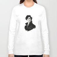 sherlock holmes Long Sleeve T-shirts featuring Sherlock Holmes by StarshipRanger