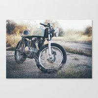 cafe racer Canvas Prints featuring Cafe Racer by Joey Gessner