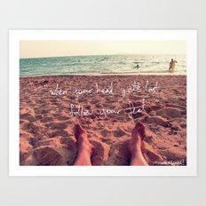 follow your feet Art Print