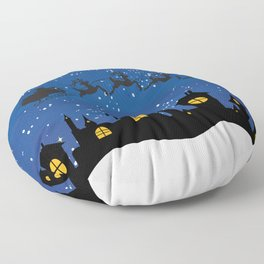 Twas The Night Before... Floor Pillow
