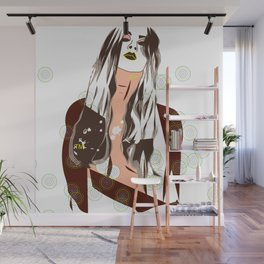 Sultry Disposition, Fashion Earth Tones Illustration Wall Mural