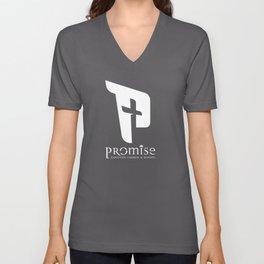 promise logo white Unisex V-Neck