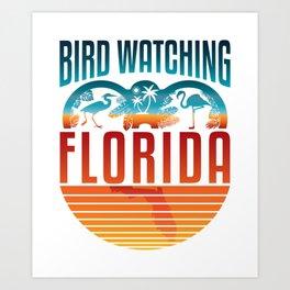 Bird Watching Florida Art Print