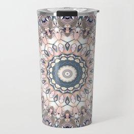 Pastel Boho Chic Mandala Design Travel Mug