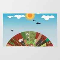 farm Area & Throw Rugs featuring Farm by Design4u Studio