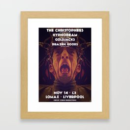 Gig poster for the Lomax, Liverpool Framed Art Print