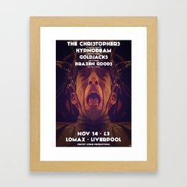 Gig poster for the Lomax, Liverpool Framed Art Print