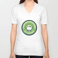 john green V-neck T-shirts featuring Cute John Watson - Green by mydeardear