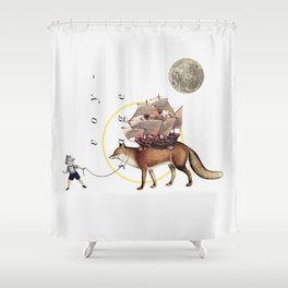 Dromomania Shower Curtain