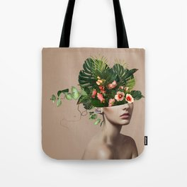Lady Flowers llll Tote Bag