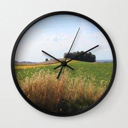 Golden Farm Wall Clock