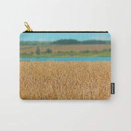 Golden Corn by the Turquoise Water Carry-All Pouch