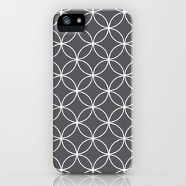 Circles Graphite Gray iPhone Case