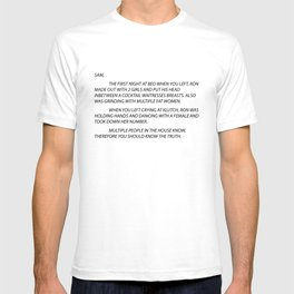 Sammi Anonymous letter to sam T-shirt