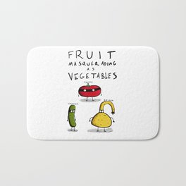 Fruit Masquerading as Vegetables Bath Mat