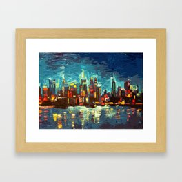 Abstract NYC Skyline Framed Art Print