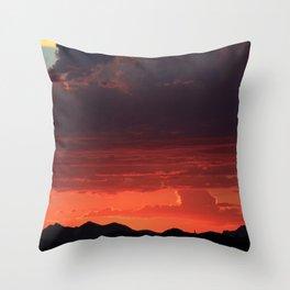 Desert Mountain Sunset XI Throw Pillow
