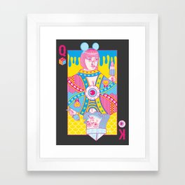 Queen Of Nowhere, King Of Nothing Framed Art Print