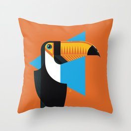 Birds of Brazil   Toucan Throw Pillow