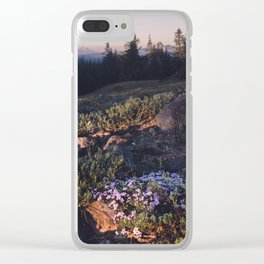 Wildflowers at Dawn - Nature Photography Clear iPhone Case