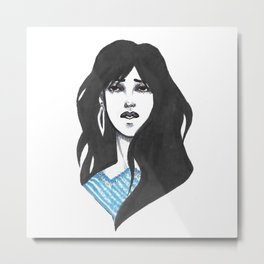 Blue shirt Metal Print