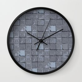 Cloisters in blue Wall Clock