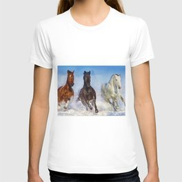 Woodstock, Connecticut - The Wild of the Winter Horses, A Portrait T-shirt