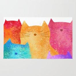 Rainbow cats Rug