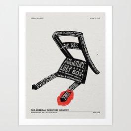 BREAK A LEG Art Print