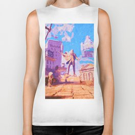 Columbia - The City in the Sky Biker Tank