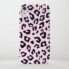 Leopard Print - Lavender Blush iPhone Case