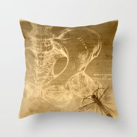 anatomy Throw Pillows featuring Anatomy by ViviRajski