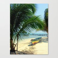 reggae Canvas Prints featuring reggae boat by Coleaboration ART