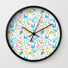 Colorful Lovely Pattern XII Wall Clock