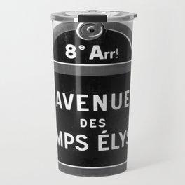 Avenue des Champs Elysees in Paris Travel Mug