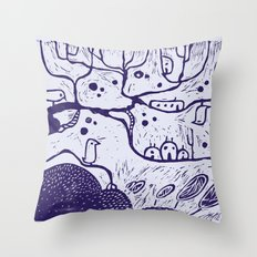 purple tree Throw Pillow
