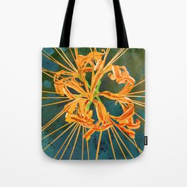 Yellow Spider Lily Watercolor Floral Art Tote Bag