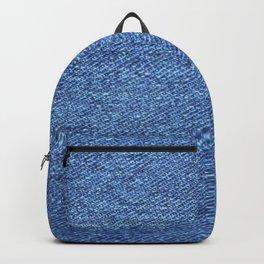 blue denim Backpack